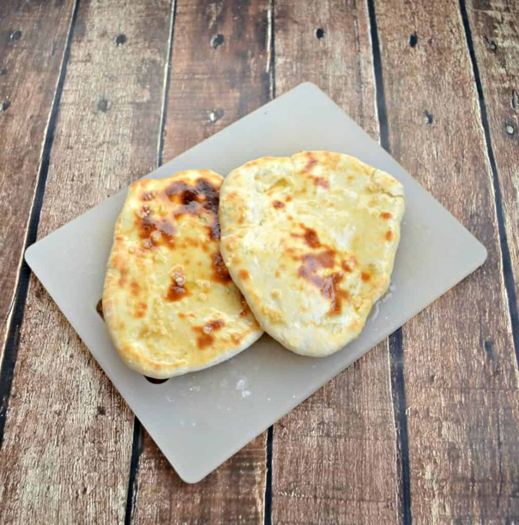 Naan is a delicious bread that goes well with soup!