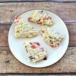 Berry Chia Scones with Lemon Glaze #SpringSweetsWeek