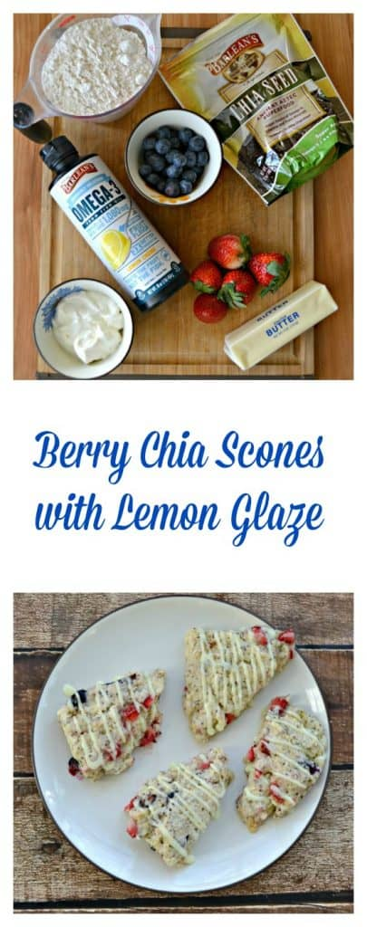 Everything you need to make Berry Chia Scones with Lemon Glaze