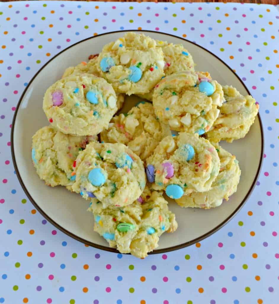 Kids will love the fun colors in these Easter M&M's Cookies!