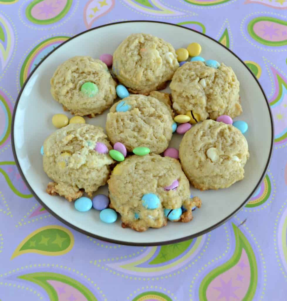 Grab a glass of milk and enjoy these Easter M&M's Cookies