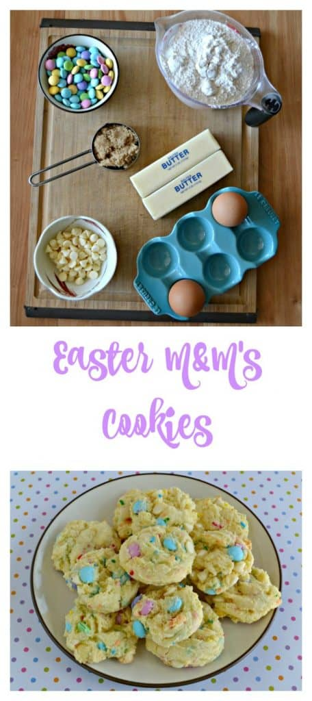 Everything you need to make Easter M&M's Cookies