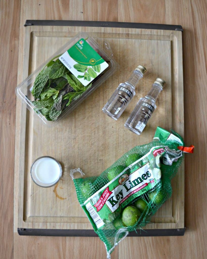 Everything you need to make a Key Lime Pie Mojito!