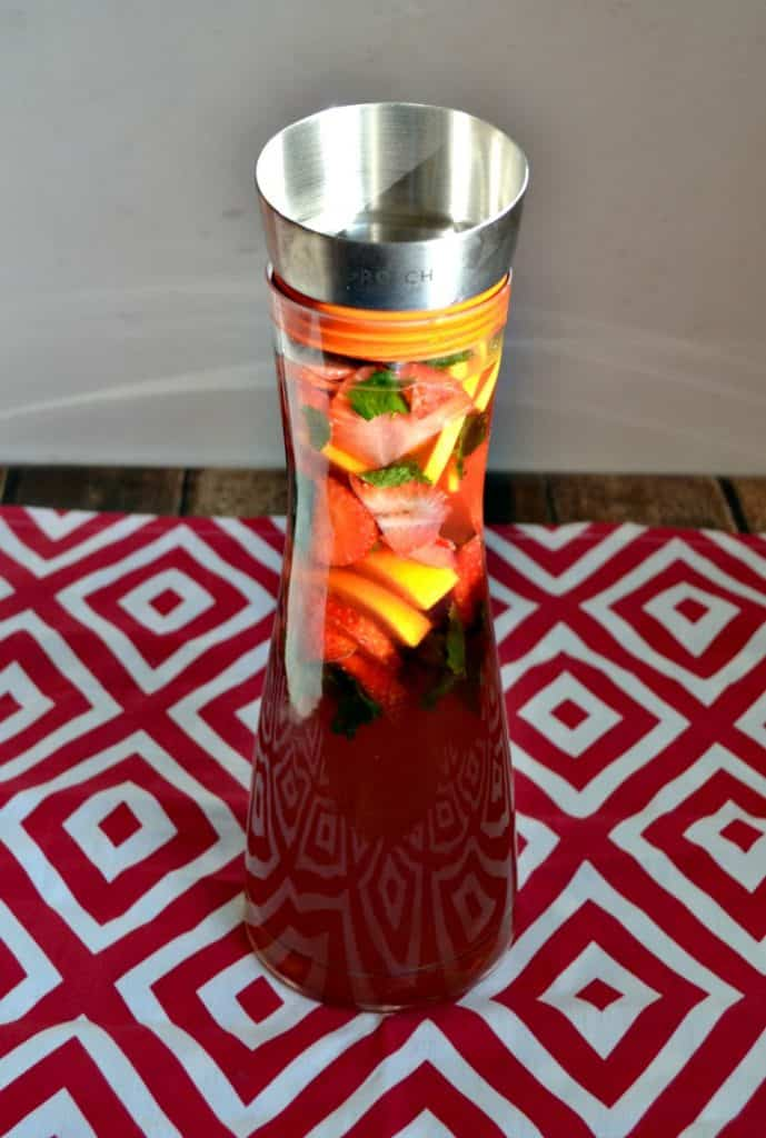 Refreshing Strawberry Hibiscus Iced Tea is perfect for brunch!