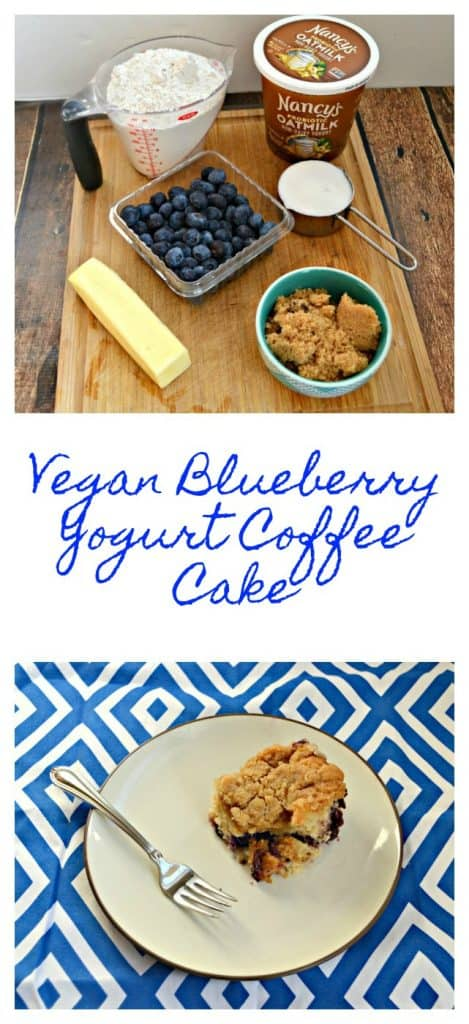 Need an easy vegan breakfast or brunch? Check out my Vegan Blueberry Yogurt Coffee Cake!