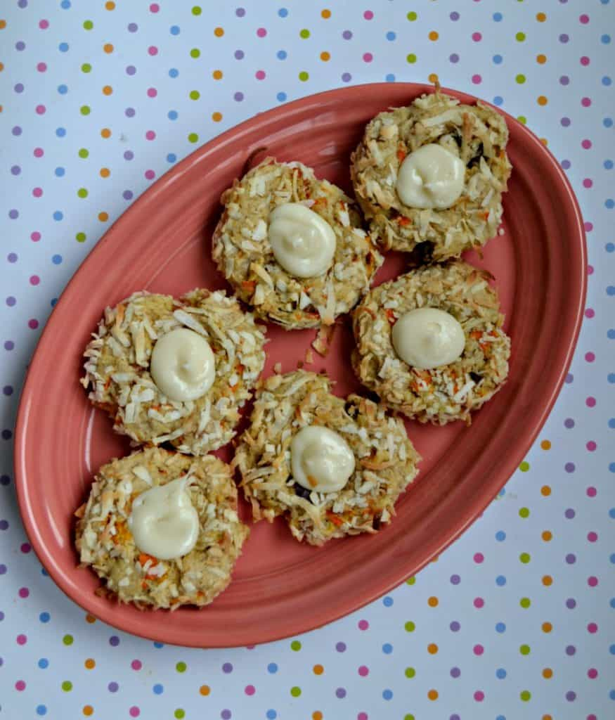 I can't get enough of these Carrot Cake Bird's Nest Cookies