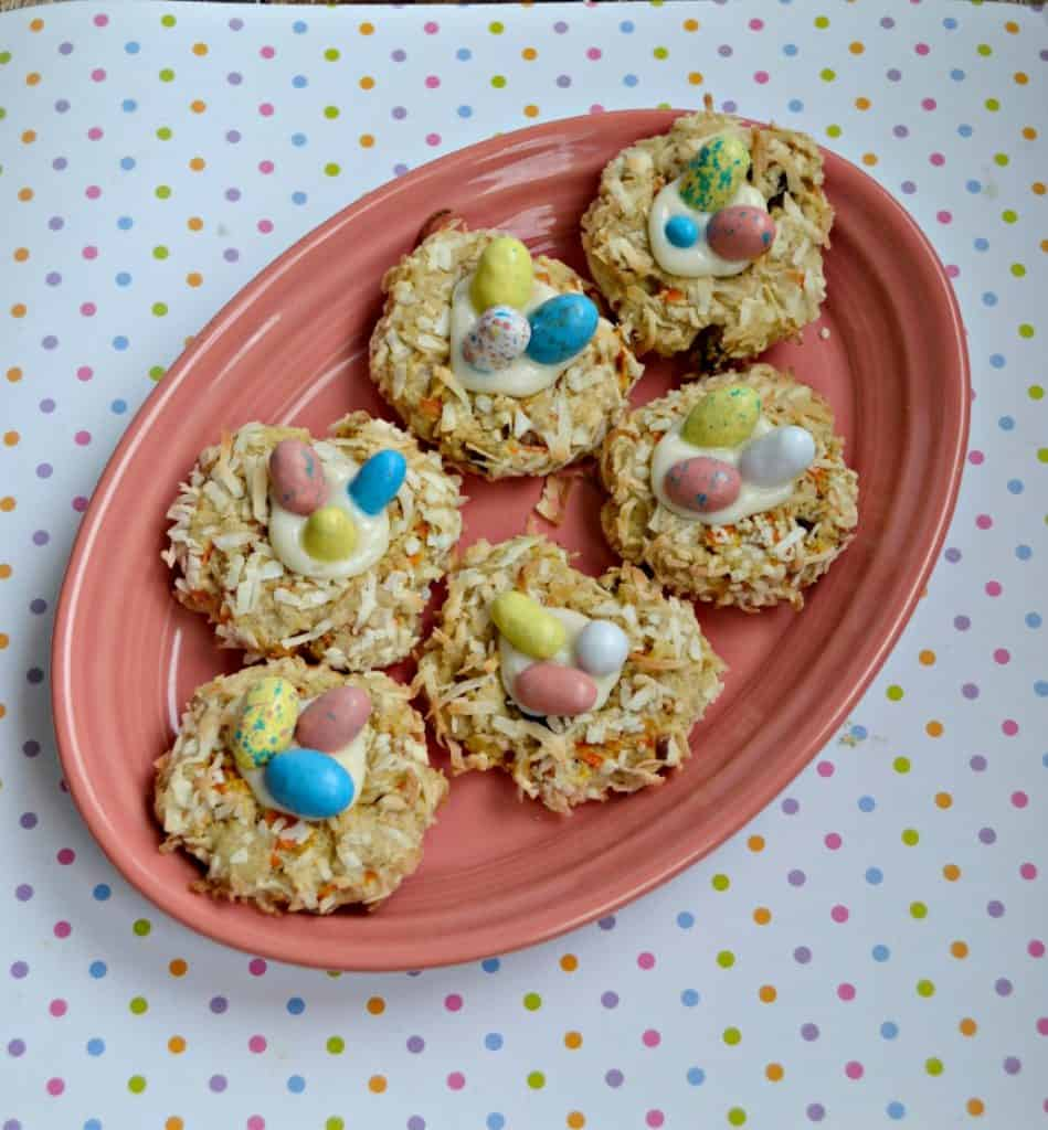 You'll love the flavor and look of these Carrot Cake Bird's Nest Cookies!