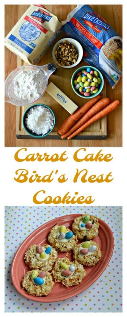 These Carrot Cake Bird's Nest Cookies are great for spring or Easter!