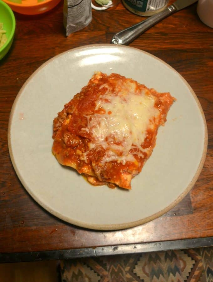 This simple but flavorful lasagna is one of the best I've had!