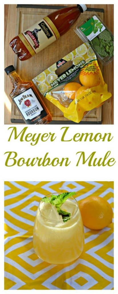 Everything you need to make a Meyer Lemon Bourbon Mule
