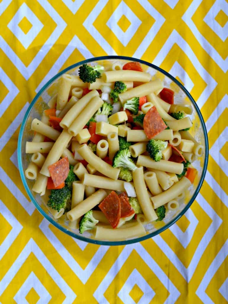 I love the bright flavors in this Pasta Salad with Lemon Flax Oil Dressing