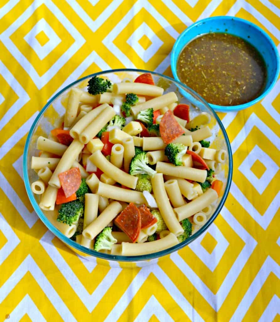 Brighten up your meal with this Pasta Salad with Lemon Flax Oil Vinaigrette