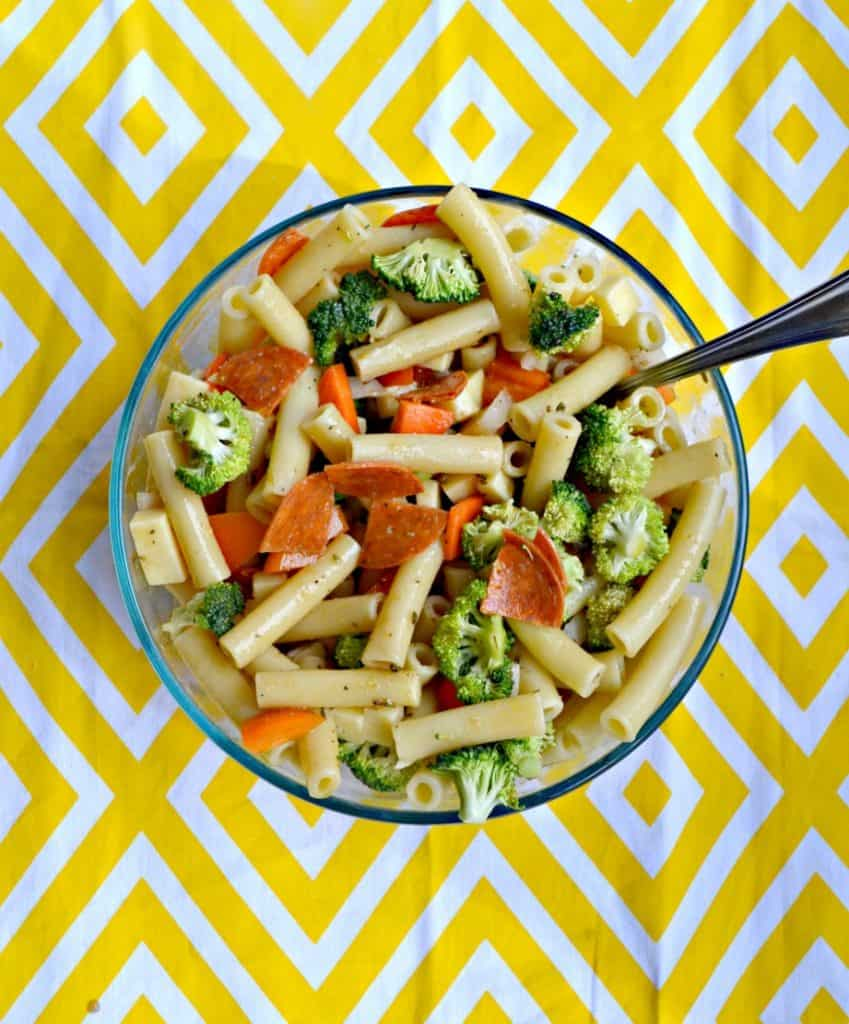 Mix up a batch of this Pasta Salad with Lemon Flax Oil Vinaigrette