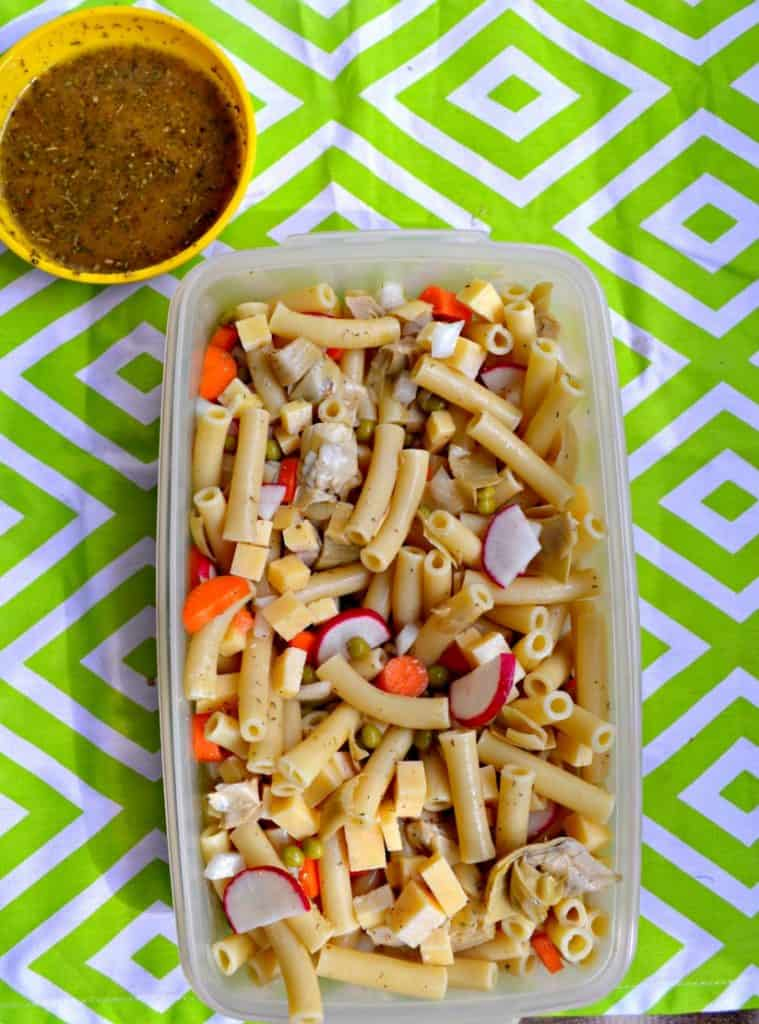 Hop into spring with this colorful Spring Pasta Salad filled with veggies!