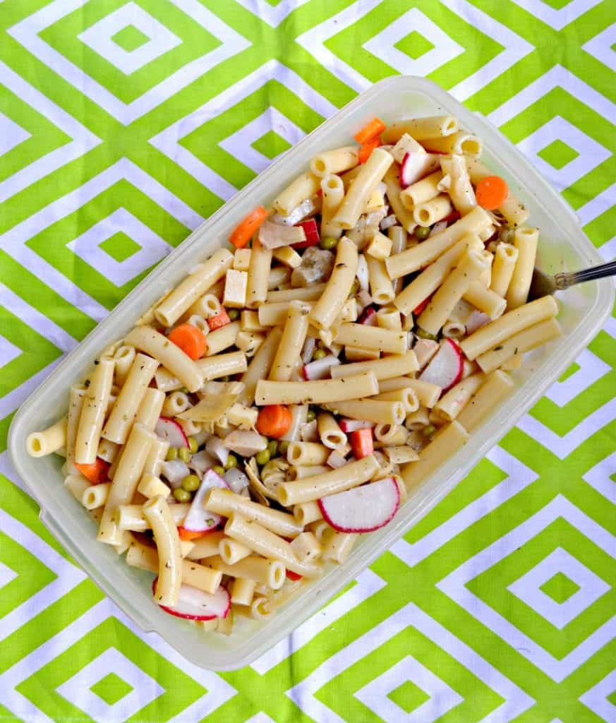 Grab your favorite seasonal veggies and make this Spring Pasta Salad