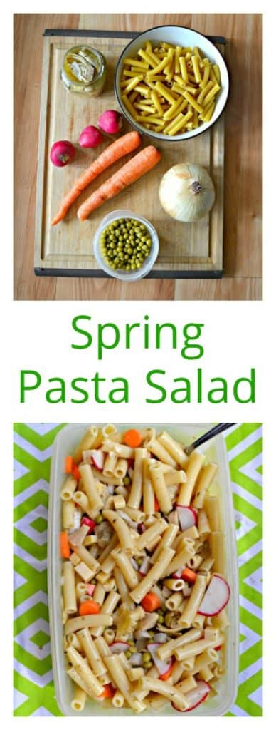 The whole family will enjoy this Spring Pasta Salad