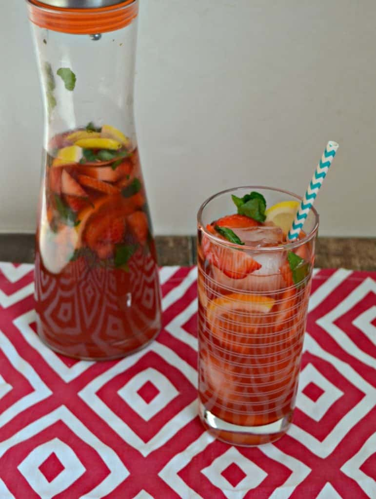 Sip on this refreshing Strawberry Hibiscus Iced Tea!