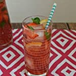 Grab a straw and enjoy this Strawberry Hibiscus Iced Tea!