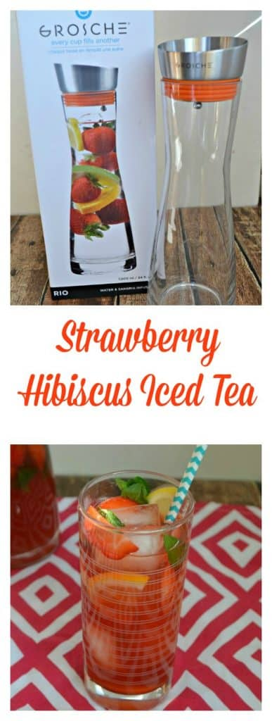 It's easy to make delicious Strawberry Hibiscus Iced Tea