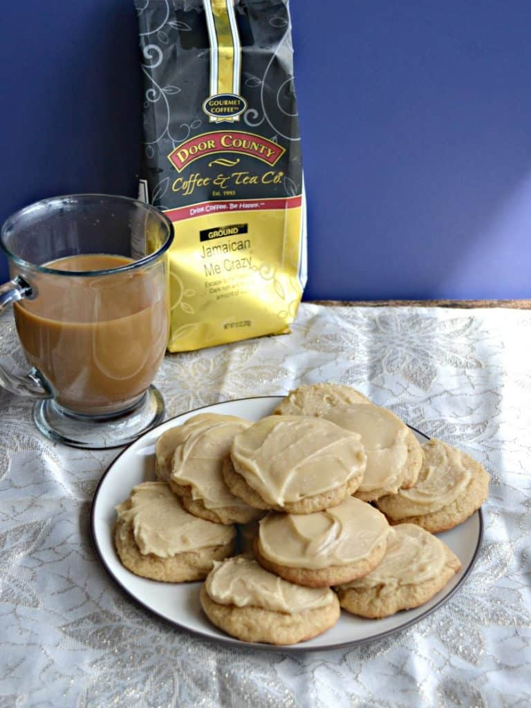 It doesn't get much better than Frosted Brown Sugar Cookies with a mug of Door County Coffee