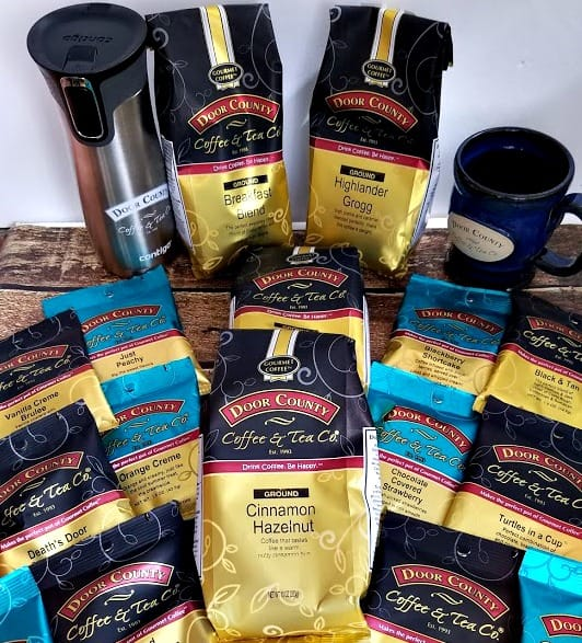 So many flavors of Door County Coffee!