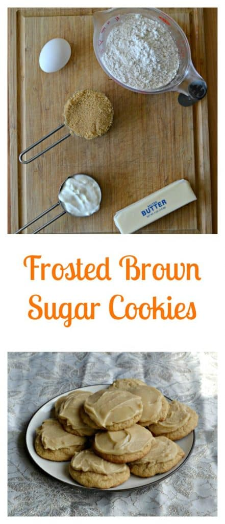 It's easy to make Frosted Brown Sugar Cookies