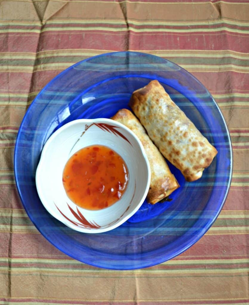Crispy Pork Egg Rolls are filled with cabbge, ground pork, seasonings, and a little bit of cream cheese. Try it, it's delicious!