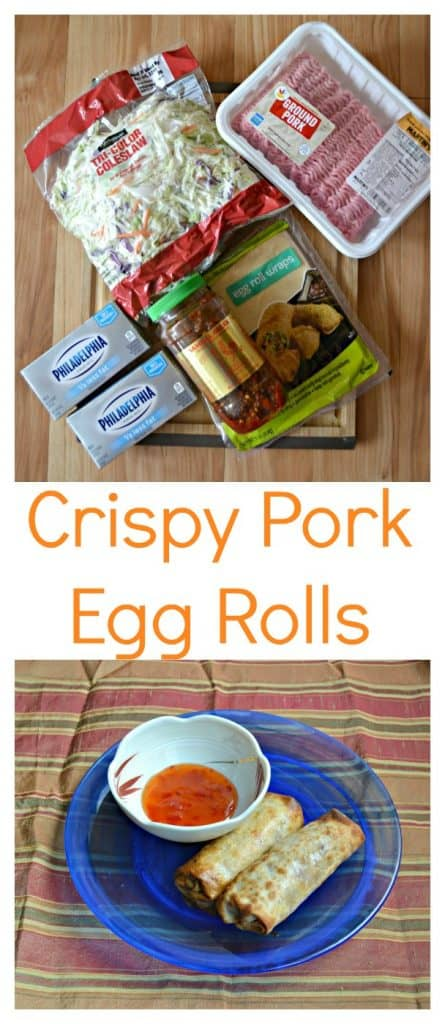 Everything you need to make Crispy Pork Egg Rolls