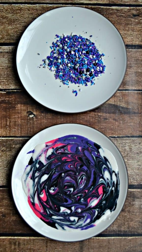 Mix up some Galaxy Donut Glaze and finish it off with outer space sprinkles!