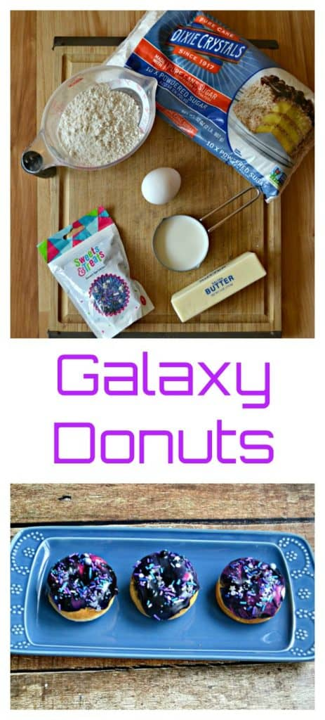 Everything you need to make Galaxy Donuts
