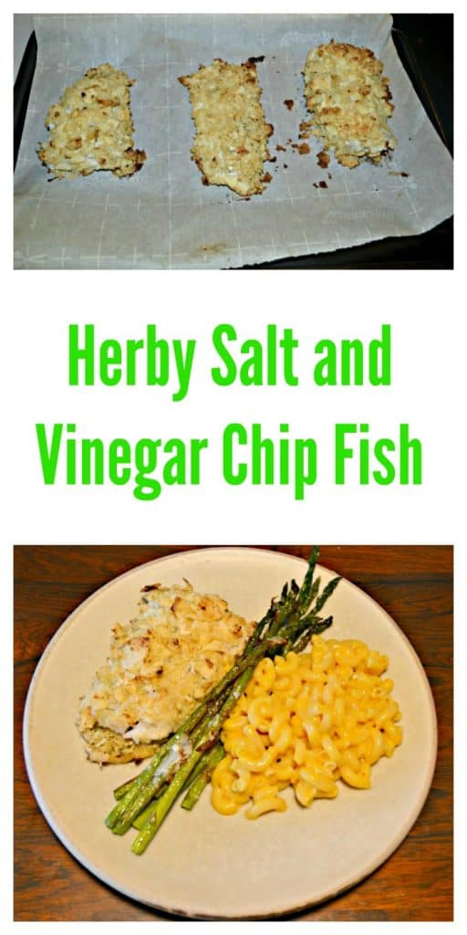 Everything you need to make Herby Salt and Vinegar Chip Fish