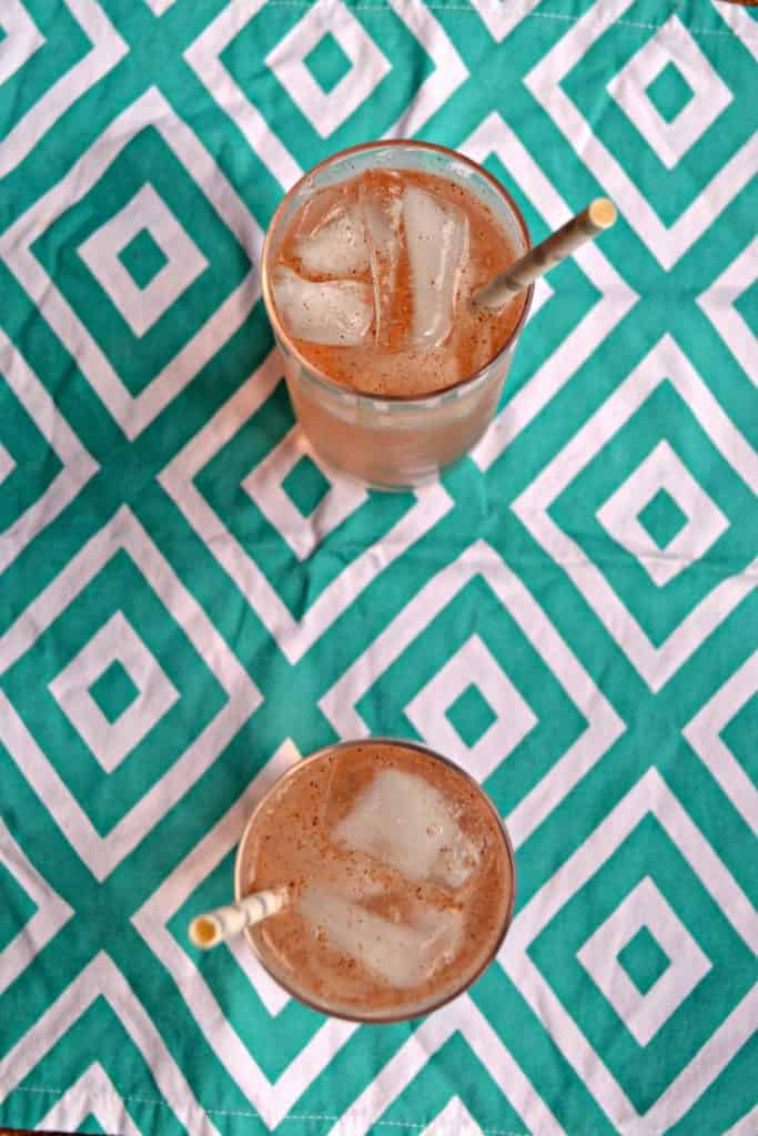 Summer is perfect for sipping on homemade Peach Guava Italian Soda!