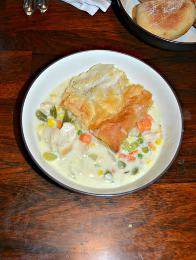 I love this easy Skillet Chicken Pot Pie