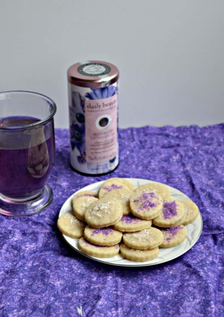 Sip on a cup of hot tea and enjoy my Blueberry Lavender Tea Cookies!