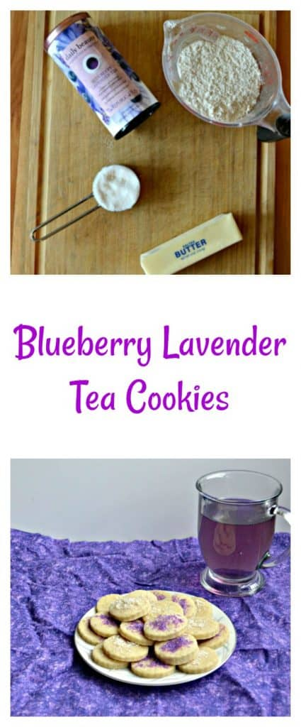 Everything you need to make Blueberry Lavender Tea Cookies