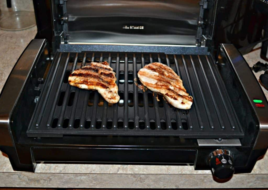 Raining outside? No worries! BBQ Rubbed Grilled Chicken on an indoor grill is perfect!