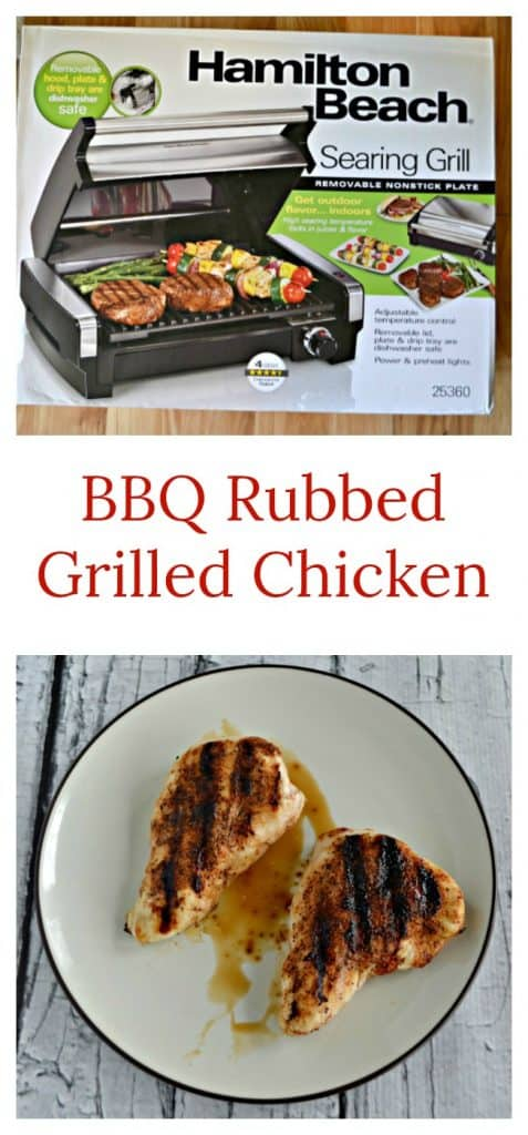 Everything you need to make BBQ Rubbed Grilled Chicken