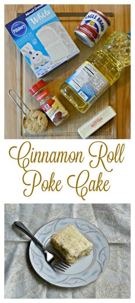 Everything you need to make Cinnamon Roll Poke Cake