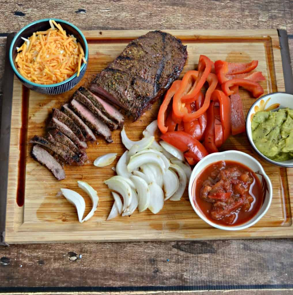 I can't get enough of these Grilled Steak Fajitas