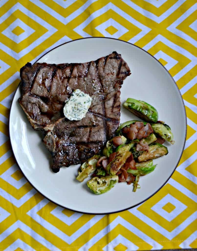 Looking for the ultimate grilled food? These Grilled Porterhouse Steaks with Garlic Herb Compound Butter are awesome!