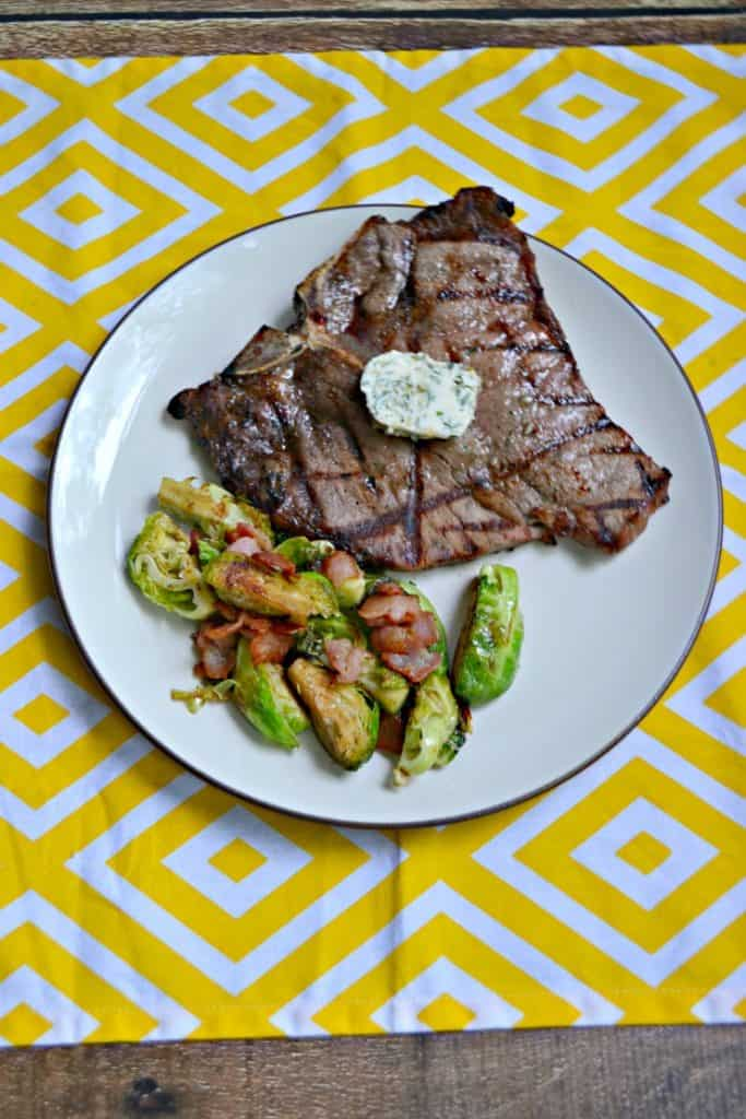 Fire up the grill and make these Grilled Porterhouse Steaks with Garlic Herb Compound Butter