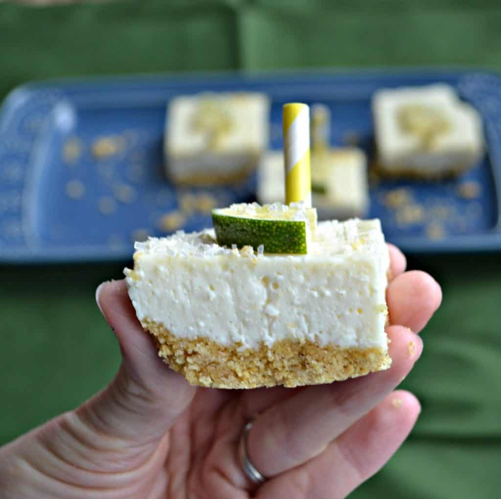 Icebox Margarita Cheesecake Bars