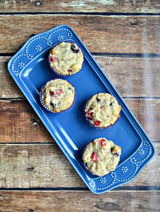 Vegan Yogurt Berry Muffins are perfect with a cup of coffee or tea.