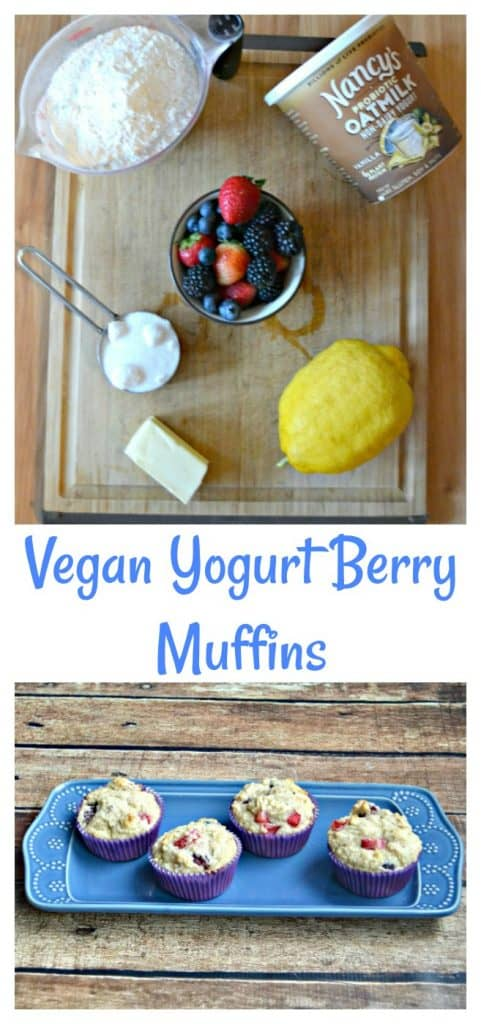 Everything you need to make Vegan Yogurt Berry Muffins