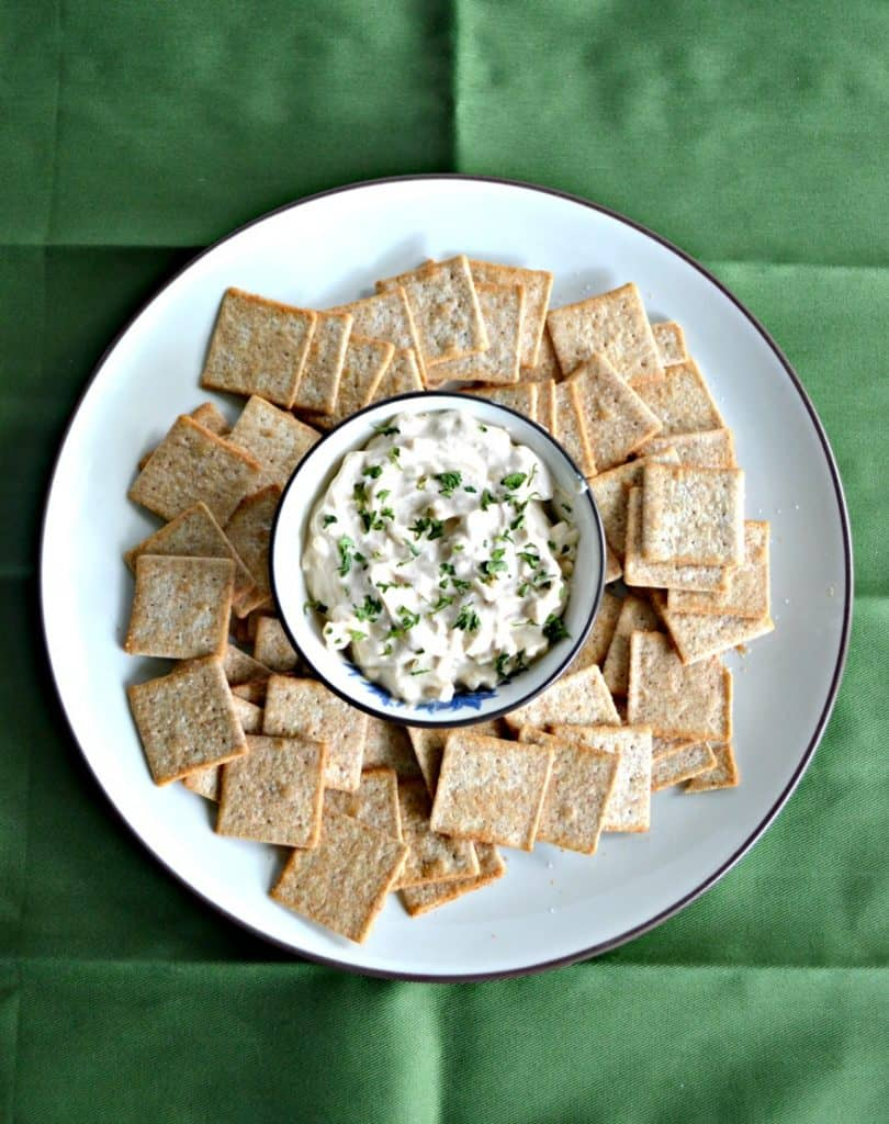 This easy 4 ingredient Sour Cream and Onion Cheddar Dip is a party pleaser!