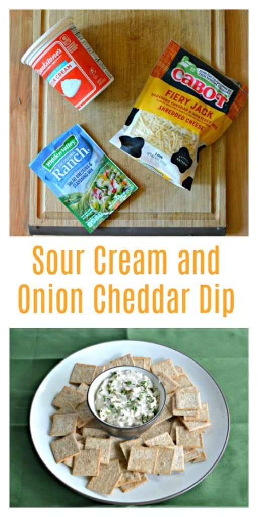 Sour Cream and Onion Cheddar Dip