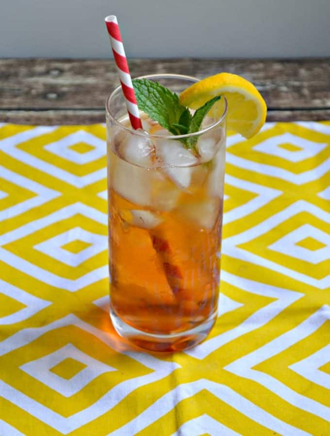 Cool off with a Sparkling Peach Iced Tea this summer!