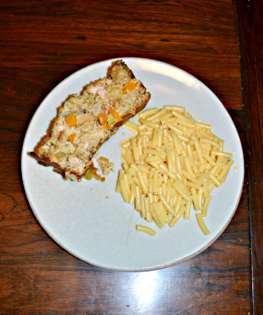 Tuna Loaf is an easy to make meatless meal