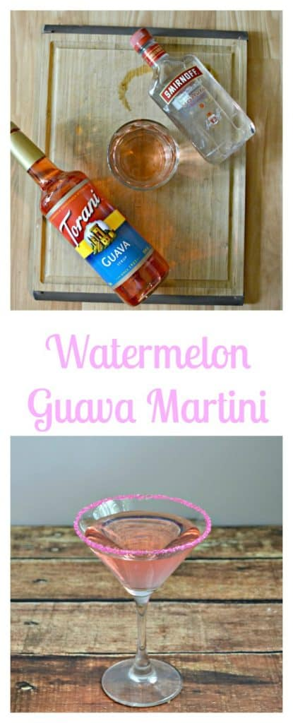 Everything you need to make a Watermelon Guava Martini