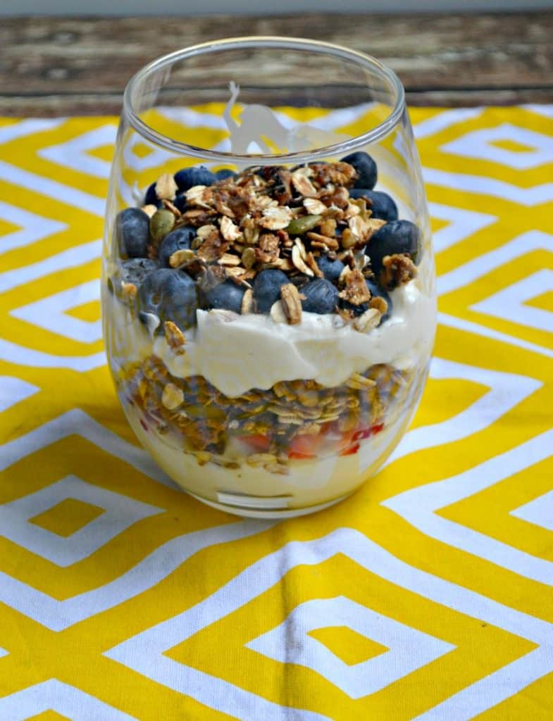 Honey Vanilla Yogurt Parfaits with Homemade Granola is great for breakfast or dessert!